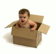 stock-footage-baby-in-cardboard-box